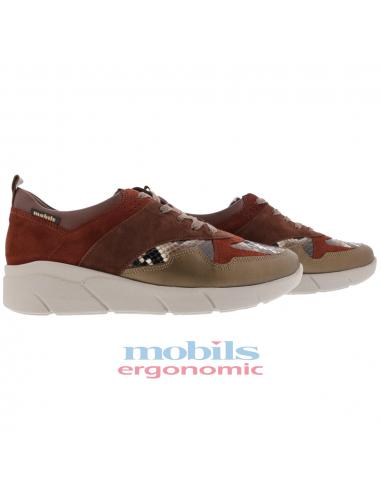 ed42bef1d92 chaussures sport à lacets en cuir marron doré pour femme ninia mephisto