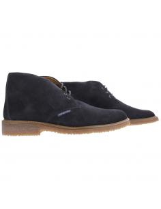 chaussures à lacets imperméables en cuir marron barracuda mephisto homme