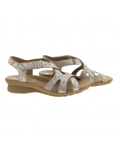 sandale mephisto confortable pour femme Paris en cuir mimosa beige