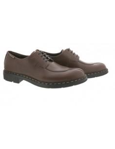 chaussures à lacets habillées pour homme en cuir marron foncé Adriano by Mephisto