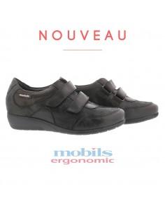 chaussures à lacets Jacinte Mobils by Mephisto en cuir vernis noir