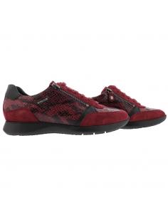 chaussures lacets montante femme en cuir laurie mephisto