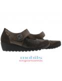 chaussettes taupes de qualité en coton pour femme mephisto