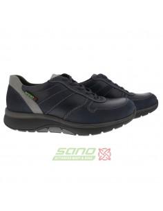 chaussures ville à scratch pour homme confortable en cuir noir delio mephisto