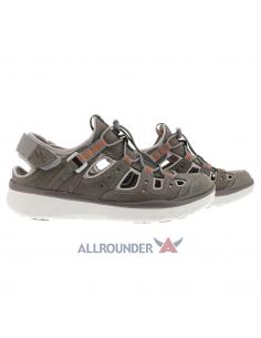 chaussures confortables scratchs pour femme en cuir noir beige Jenna Mobils Mephisto