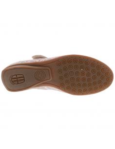 chaussures talons confortables en cuir nacré beige mephisto ivora