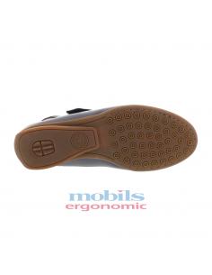 sandale compensée mephisto femme confortable elisabeth en cuir argent