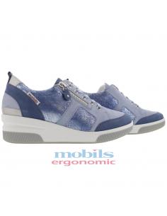 chaussures de marche à lacets mephisto mobils liria femme en cuir velouté beige