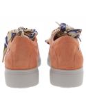 chaussure sport à lacets mephisto mobils dorothe en cuir nubuck rouge