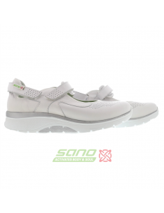 Sandale compensée Mephisto - GABY SPARK en cuir nubuck gris clair