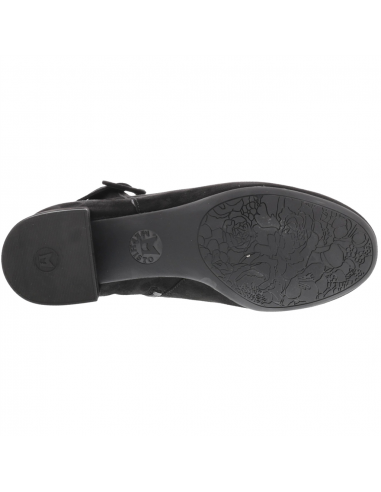 sandale de marche regent en cuir noir mat mephisto homme