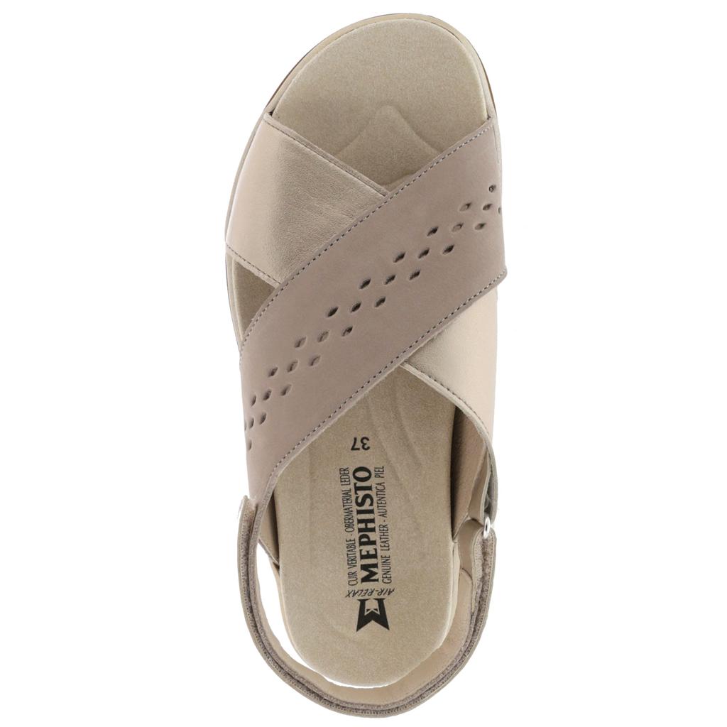 869b8bdb489aff MEPHISTO Sano   Norine - Sandale en cuir confortable pour marcher