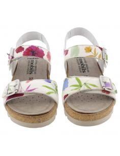 Sandale de marche Sano Mephisto : Norine en cuir nubuck gris clair