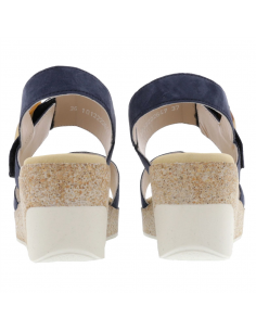 sandale réglable en cuir pour femme mephisto klodia noir nacre