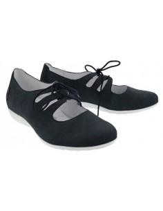 Isora by Mephisto : chaussure à talon confortable en cuir pixel noir
