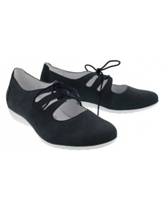 Isora by Mephisto : chaussure à talon confortable en cuir noir