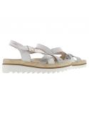 sandale mephisto confortable pour femme Paris en cuir nubuck light sand