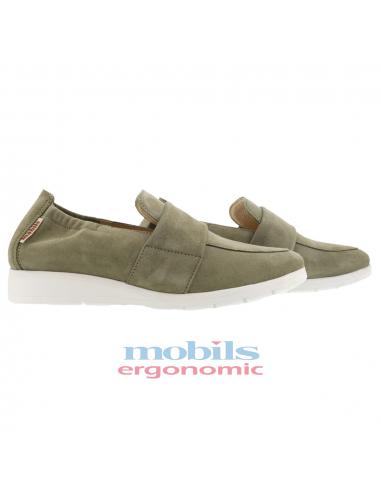 chaussures confortables à lacets pour femme en cuir mephisto bleu marine