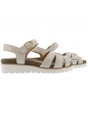 chaussures talons confortables en cuir nubuck brillant beige mephisto ivora