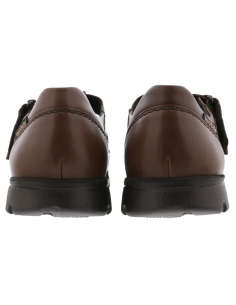 Sandale compensée Mephisto Vik en cuir vernis rose et doré