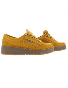 Chaussures larges et confortables en cuir velouté marine - Deborah Mobils MEPHISTO