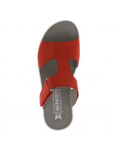 chaussures à lacets mephisto pour homme : tomy en cuir marron foncé