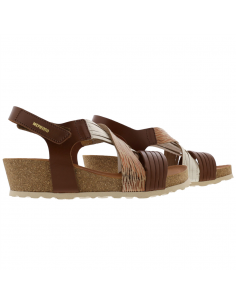 chaussures mephisto christy femme en cuir vernis taupe