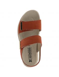 Chaussures larges et confortables en cuir velouté gris - Deborah Mobils MEPHISTO