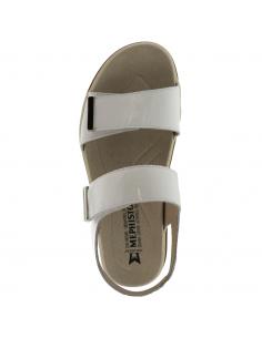 Chaussures à lacets en cuir beige taupe pour femme - Ruby MEPHISTO