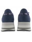 chaussures mephisto femme patrizia cuir bleu marine