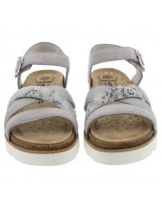 chaussures sport à lacets pour pieds larges mephisto gladice gris taupe