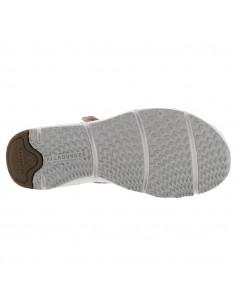 Chaussures lacets confortables pour femme - RUBY Mephisto en cuir gris et blanc