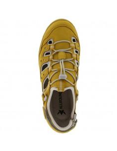 sandale mephisto confortable pour femme Paris en cuir nubuck jaune